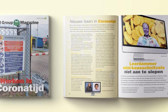 Bel Magazine maken in coronatijd